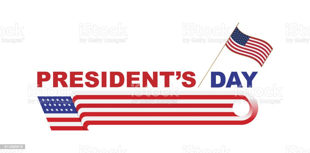 happy presidents day of usa template design element with text and us