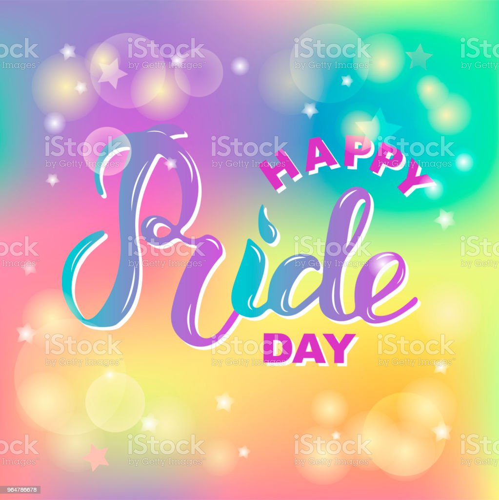 Happy Pride day text isolated on background. royalty-free happy pride day text isolated on background stock vector art & more images of backdrop - artificial scene