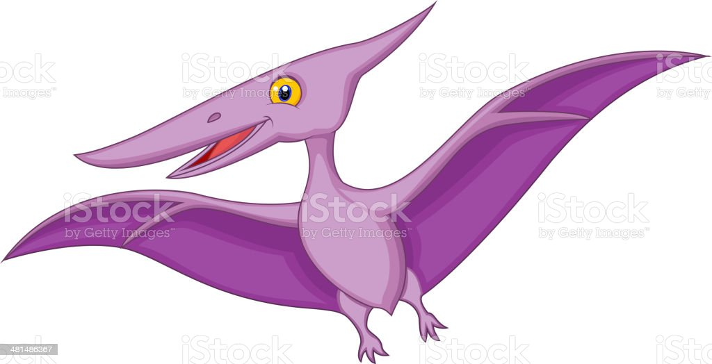 royalty free happy pterodactyl flying clip art vector images rh istockphoto com pterodactyl clipart black and white
