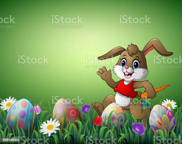Happy rabbit cartoon with carrot and easter eggs in a field vector id938448950?b=1&k=6&m=938448950&s=612x612&h=fjtjycdpm hjvrvzntxsuxfwh06tyztvucvmgwz9lhw=