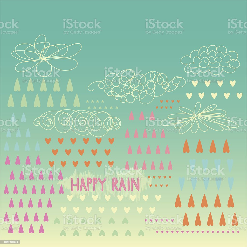 Happy rain royalty-free happy rain stock vector art & more images of abstract