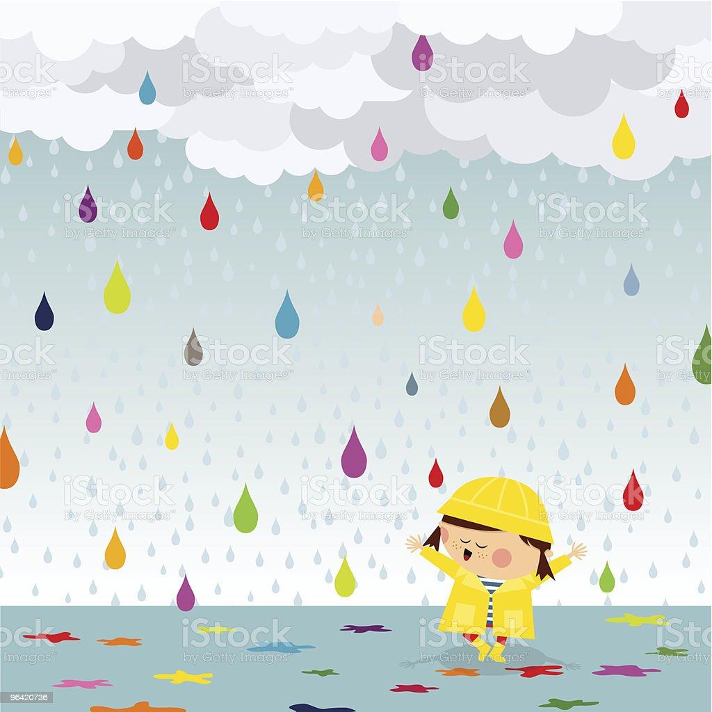 Happy rain royalty-free happy rain stock vector art & more images of adult