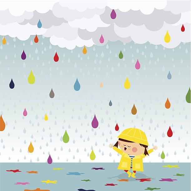 Happy Regen – Vektorgrafik