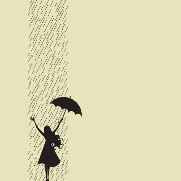 Happy rainy day vector art illustration