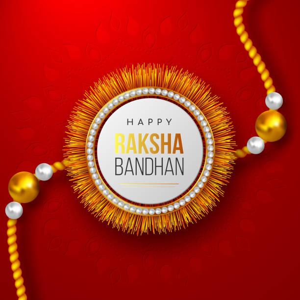 glücklich raksha bandhan festival-design. - paararmbänder stock-grafiken, -clipart, -cartoons und -symbole