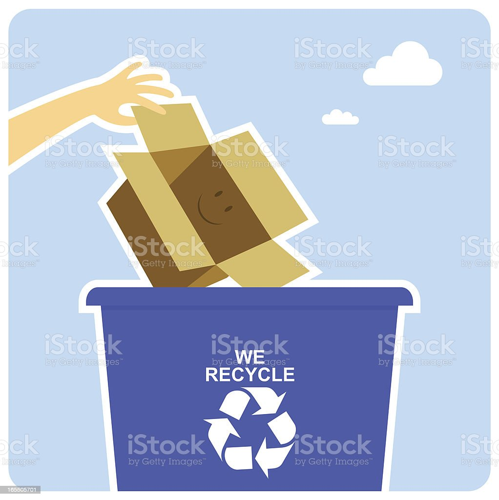Happy recycling royalty-free stock vector art