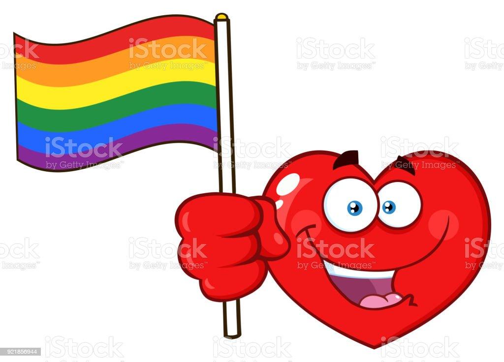 Ilustración De Corazón Rojo De Dibujos Animados