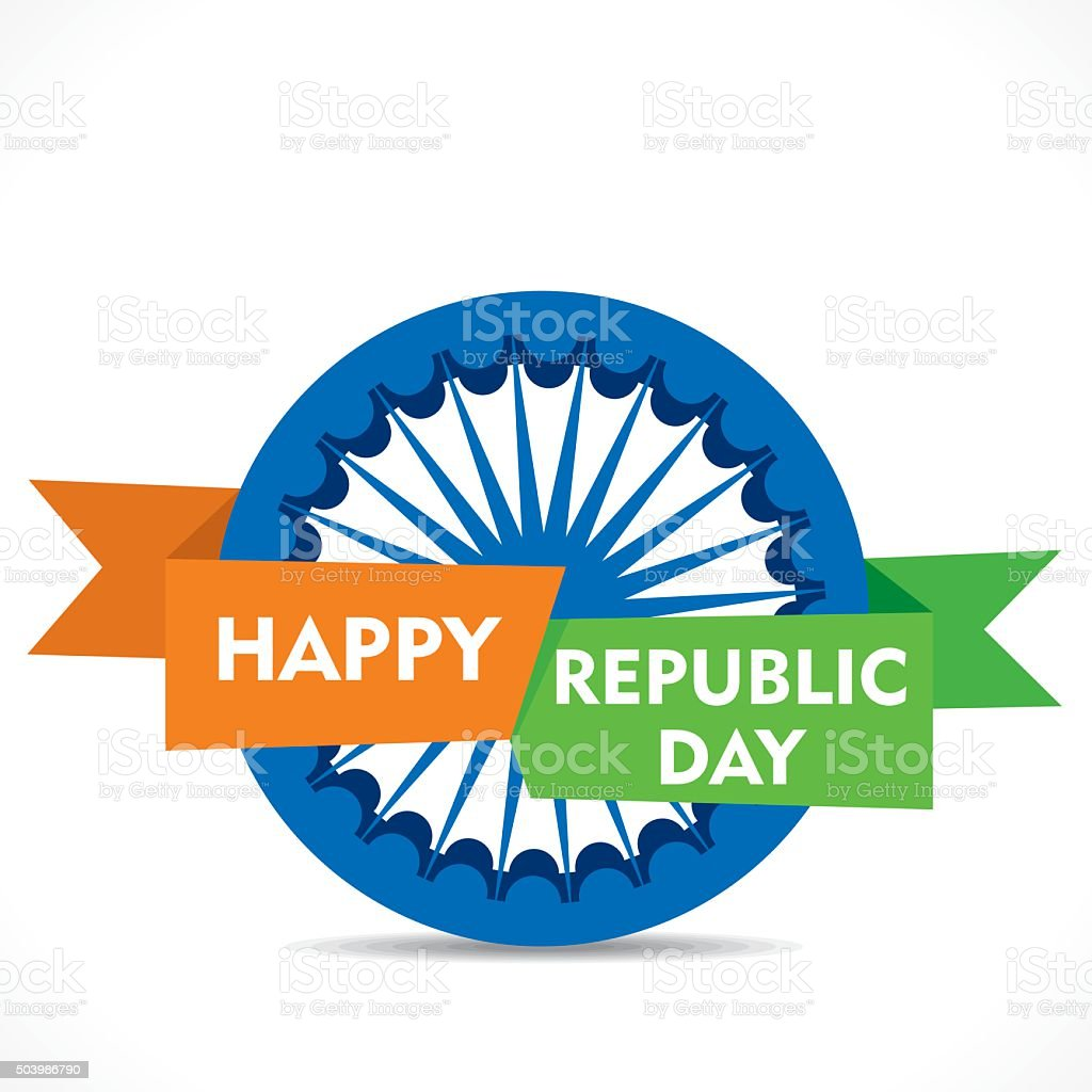 Happy Republic Day Greeting Card Design Stock Vector Art More
