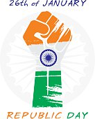 happy republic day greeting design