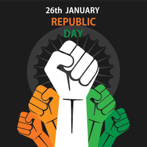 happy republic day of india banner vector art illustration