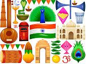 Happy Republic Day of India patriotic background