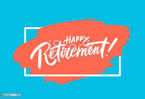 istock Happy Retirement banner. 1207698813