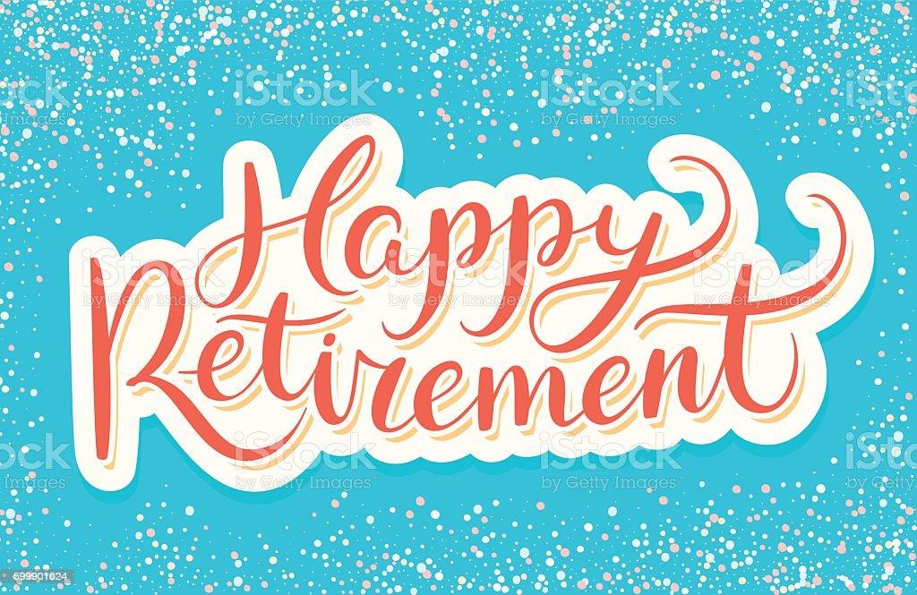 Happy Retirement banner. vector art illustration