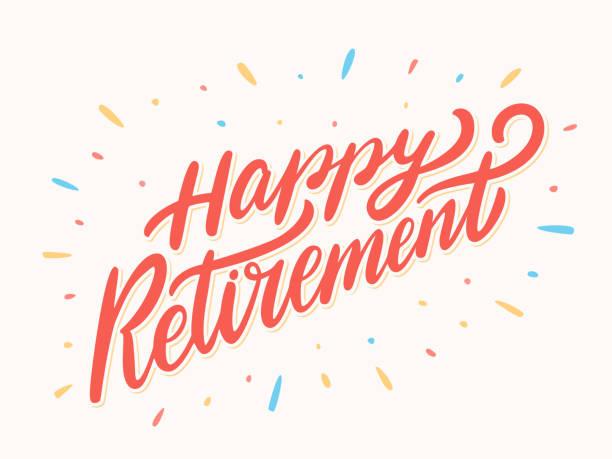Glücklichen Ruhestand banner. – Vektorgrafik