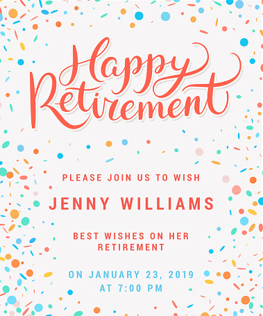 Happy Retirement Party Invitation Stock Illustration ...