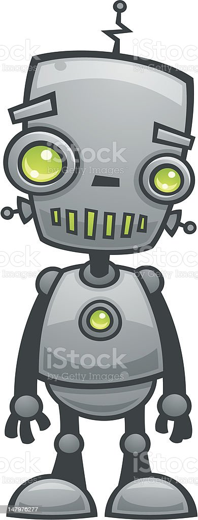 Happy Robot vector art illustration