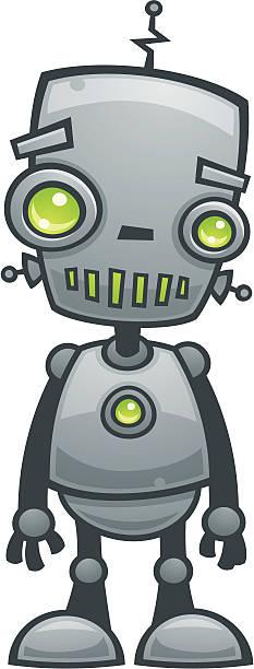 Happy Robot vector art illustration
