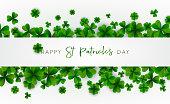 Happy Saint Patrick's Day background. Vector illustration.