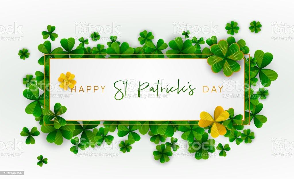 Happy Saint Patrick's Day background. Vector illustration. vector art illustration