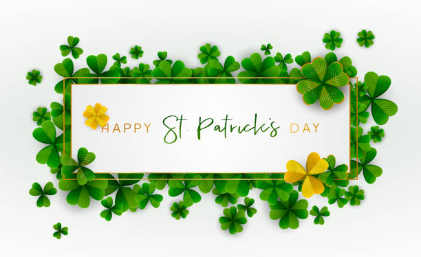 Happy Saint Patrick's Day background. Vector illustration. vector art illustration