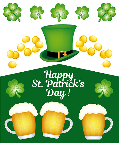Happy saint patrick`s day ! beautiful and festive icons set collection.