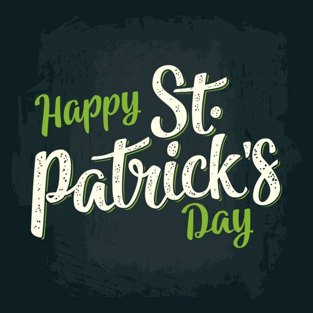 Happy Saint Patrick's Day calligraphy lettering vector art illustration