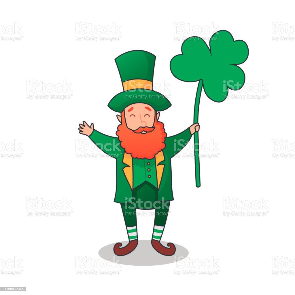 聖パトリックの日おめでとう緑色の帽子をかぶったキャラクター