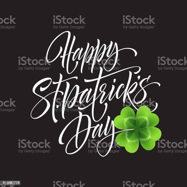 Happy saint patricks day greeting lettering on clovers leaf vector vector id914682728?b=1&k=6&m=914682728&s=612x612&h= kevtjubqquicped99uym4hlzha fdfw39hjhaegdpy=