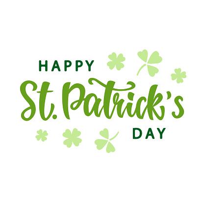 Happy Saint Patrick's Day greeting poster
