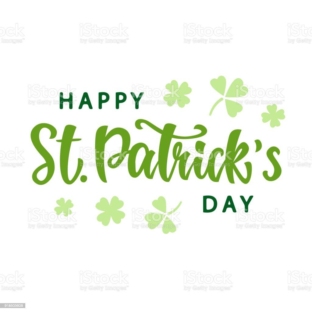 Glücklich St. Patricks Day Gruß Plakat – Vektorgrafik
