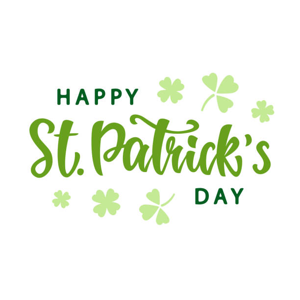 Happy Saint Patrick's Day greeting poster vector art illustration