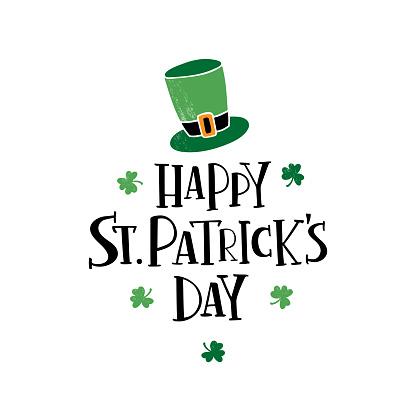 Happy Saint Patrick's day lettering