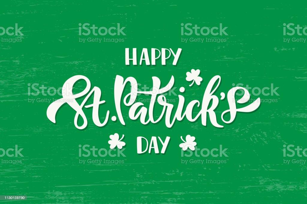 Feliz día de San Patricio Letras ilustración de feliz día de san patricio letras y más vectores libres de derechos de acontecimiento libre de derechos