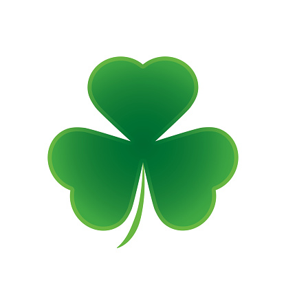 Happy Saint Patricks Day Shamrock Leaf Isolated Background Stock
