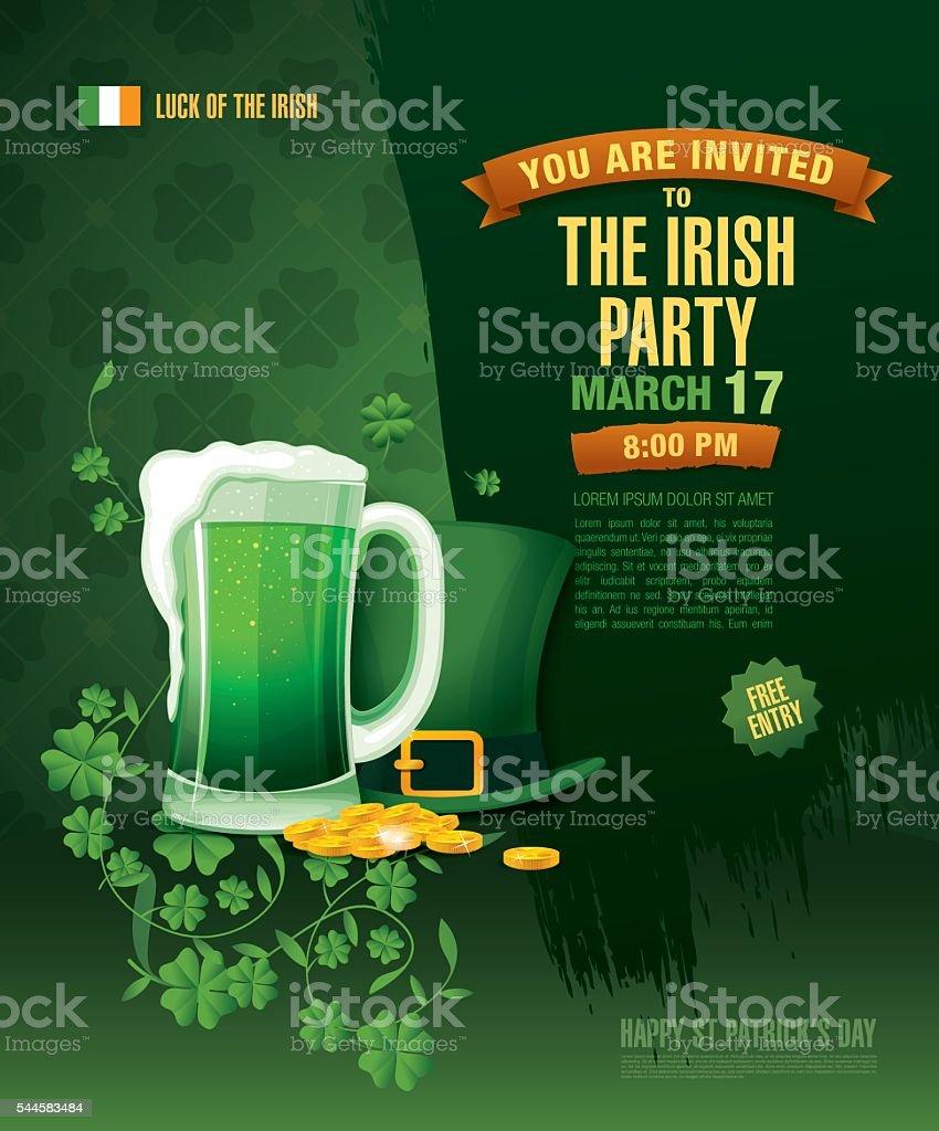 Happy Saint Patrick's day. vector art illustration