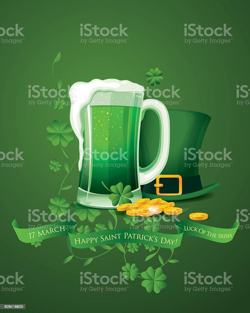 Happy Saint Patrick's day vector art illustration