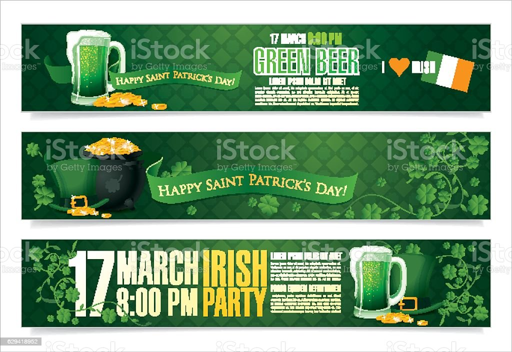 Happy Saint Patrick's day vector art illustration
