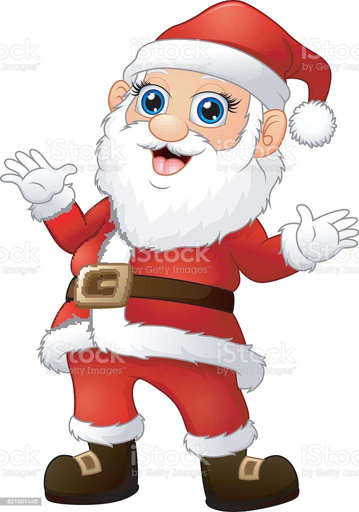 Happy Santa Comic winkender hand Lizenzfreies happy santa comic winkender hand stock vektor art und mehr bilder von charakterkopf