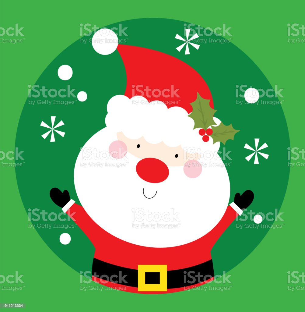 Happy Santa Christmas Greeting Card Stock Vector Art More Images