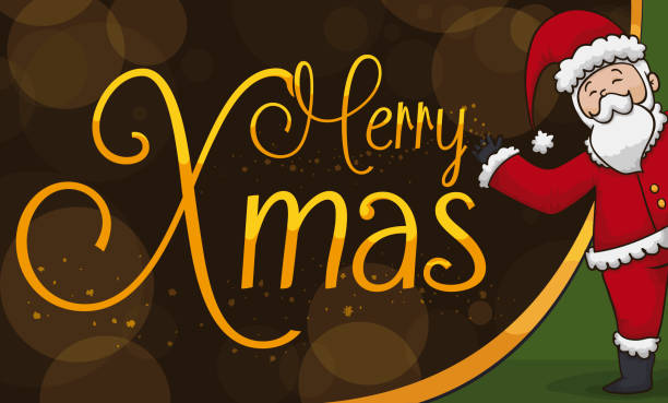 happy santa claus celebrating a magic christmas - secret santa messages stock illustrations