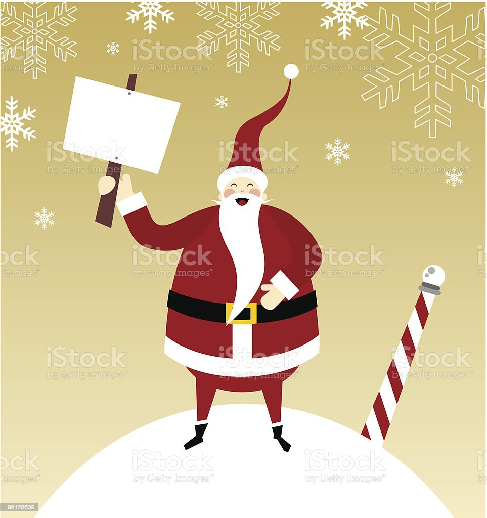 Happy Santa Claus on a snow mountain royalty-free happy santa claus on a snow mountain stock vector art & more images of billboard