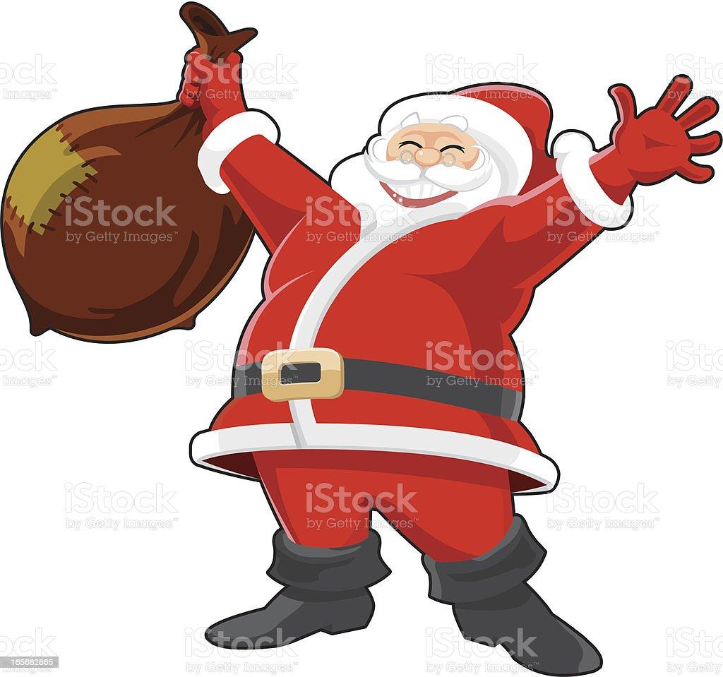 Happy Santa claus vector art illustration