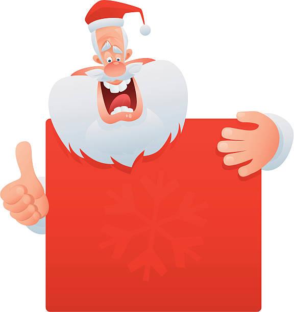 happy santa claus - old man showing thumbs up cartoons stock illustrations, clip art, cartoons, & icons