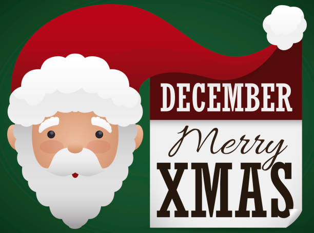 happy santa claus with greetings and reminder for christmas - secret santa messages stock illustrations