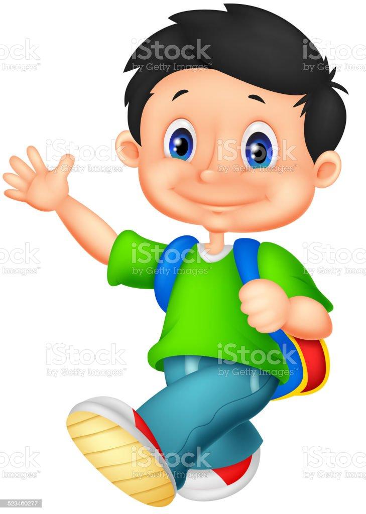 Happy School Boy Cartoon Stock Illustration Download Image Now Istock