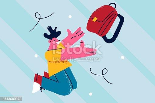 istock Happy school times concept 1313089272