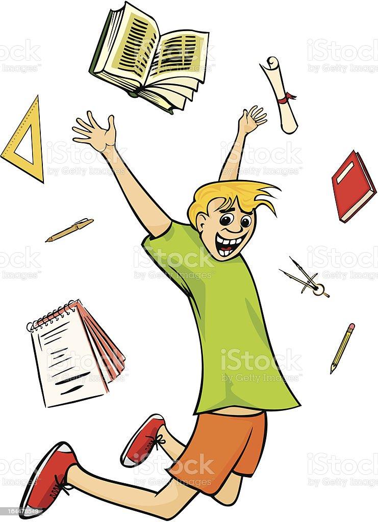 happy schoolboy - graduation royalty-free stock vector art