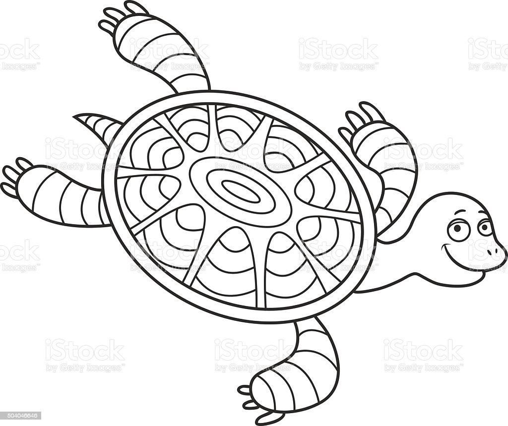 Happy Sea Turtle Cartoon Stock Illustration Download Image Now