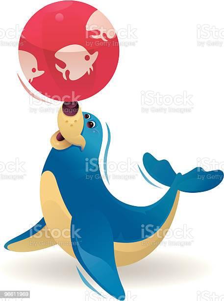 Happy Seal-vektorgrafik och fler bilder på Avkopplingsaktivitet