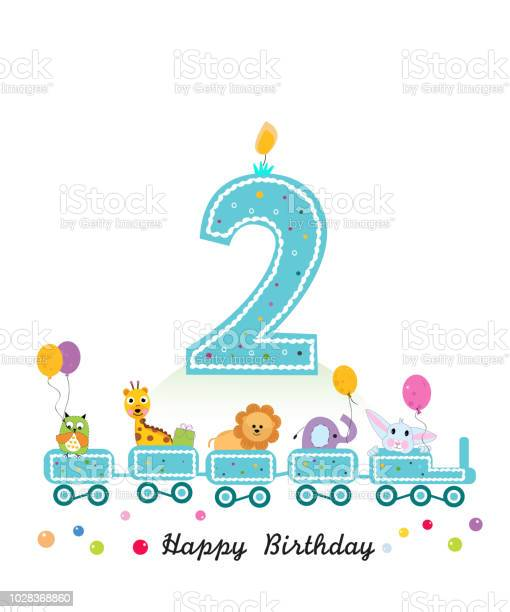Happy second birthday greeting card birthday train with animals vector id1028368860?b=1&k=6&m=1028368860&s=612x612&h=g7tzptt3rqvtopz1kh0 c8gchexizkrx7icsfv7qbva=
